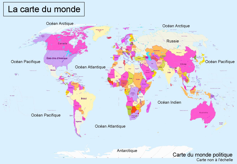 Carte du monde, carte du monde, cartes du