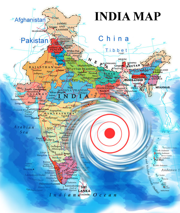 Cyclone map india india cyclone location map gumiabroncs Images