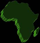 Africa Outline 3d map