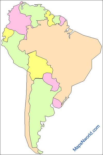 Outlne Map of South America