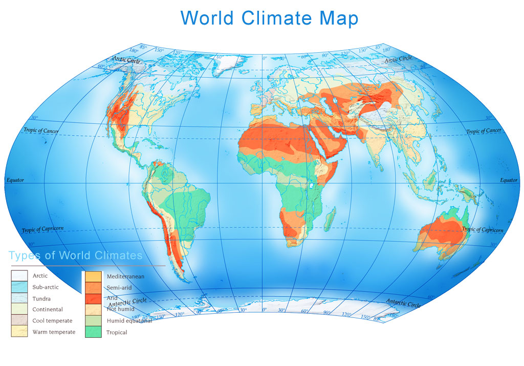 climate map of world